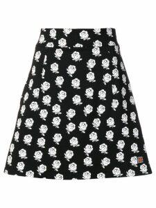 Kenzo flower print skirt - Black