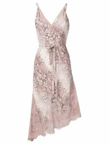 Gold Hawk snakeskin print dress - Pink