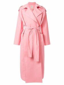 Maison Rabih Kayrouz oversized trench coat - Pink