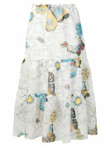 See By Chloé floral tiered midi skirt - White