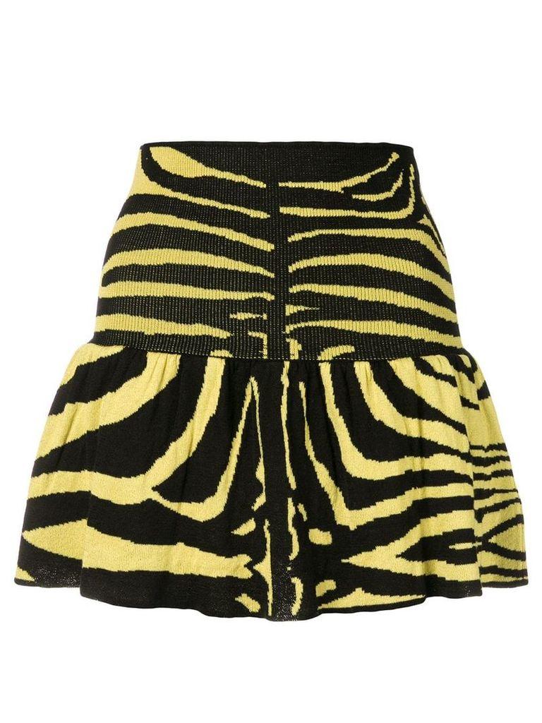 Laneus zebra print skirt - Yellow
