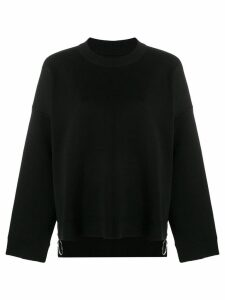Paco Rabanne basic round neck jumper - Black