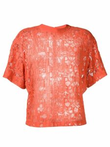 Chloé lace embroidered blouse - Orange