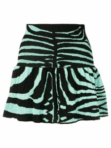 Laneus zebra print skirt - Blue