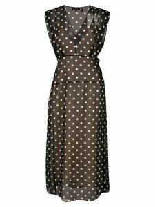 Theory polka dot casual dress - Black
