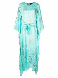Taller Marmo floral print kaftan dress - Blue