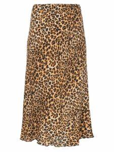 Nanushka Zarina leopard print straight midi skirt - Brown