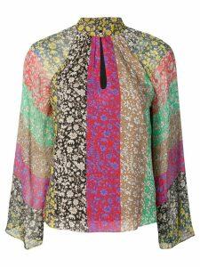 Alice+Olivia multicoloured floral blouse - Green