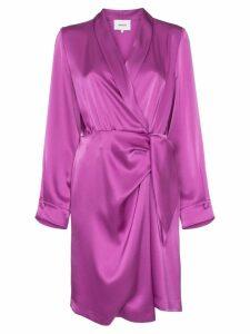 Nanushka Siwa satin wrap-dress - Pink