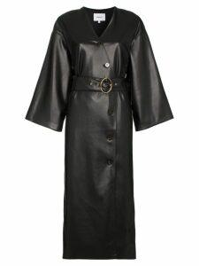 Nanushka Iben belted midi dress - Black