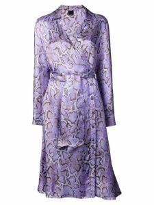 Pinko snake print wrap dress - Purple