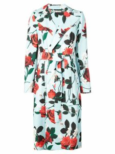 Alice+Olivia structured floral coat - Blue