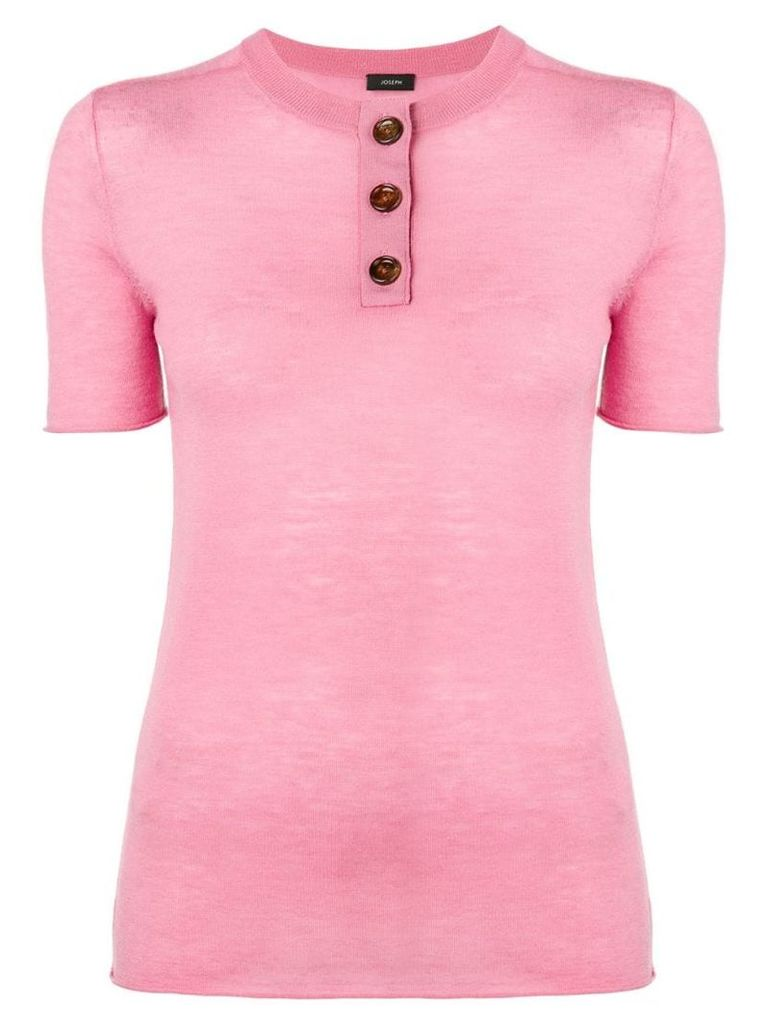 Joseph short sleeved knitted top - Pink