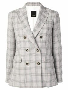 Pinko double breasted check blazer - Grey