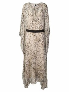 Pinko snake print maxi dress - Neutrals