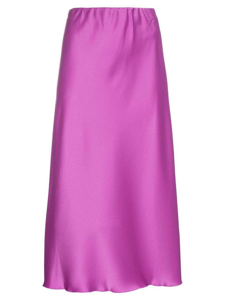 Nanushka Zarina high-waisted satin midi skirt - Pink