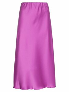 Nanushka Zarina high-waisted satin midi skirt - Pink