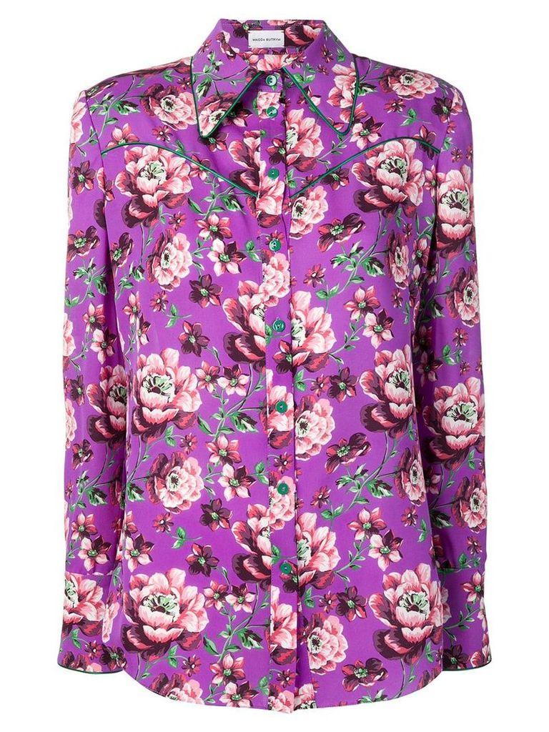 Magda Butrym violet floral blouse - Purple