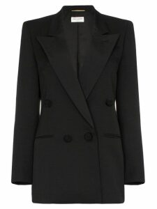Saint Laurent double-breasted tuxedo blazer - Black