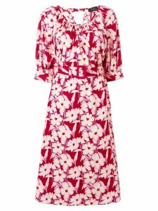 Joseph floral belted dress - Pink