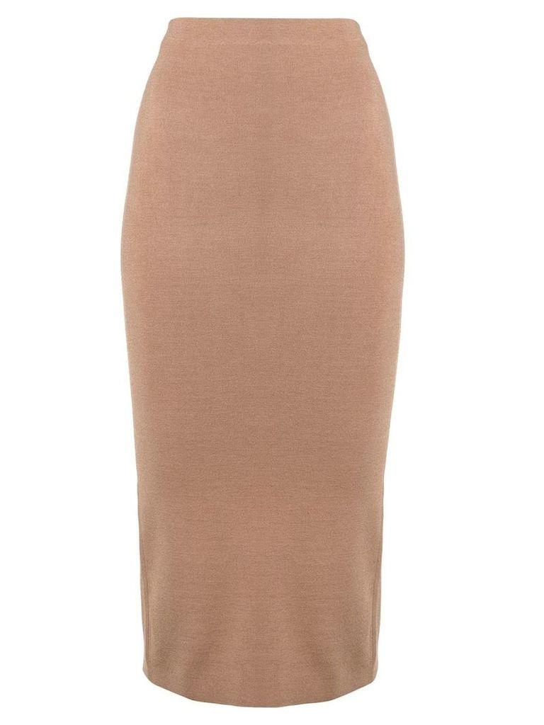Joseph fitted midi skirt - Neutrals