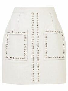 Proenza Schouler Studded Mini Skirt - White