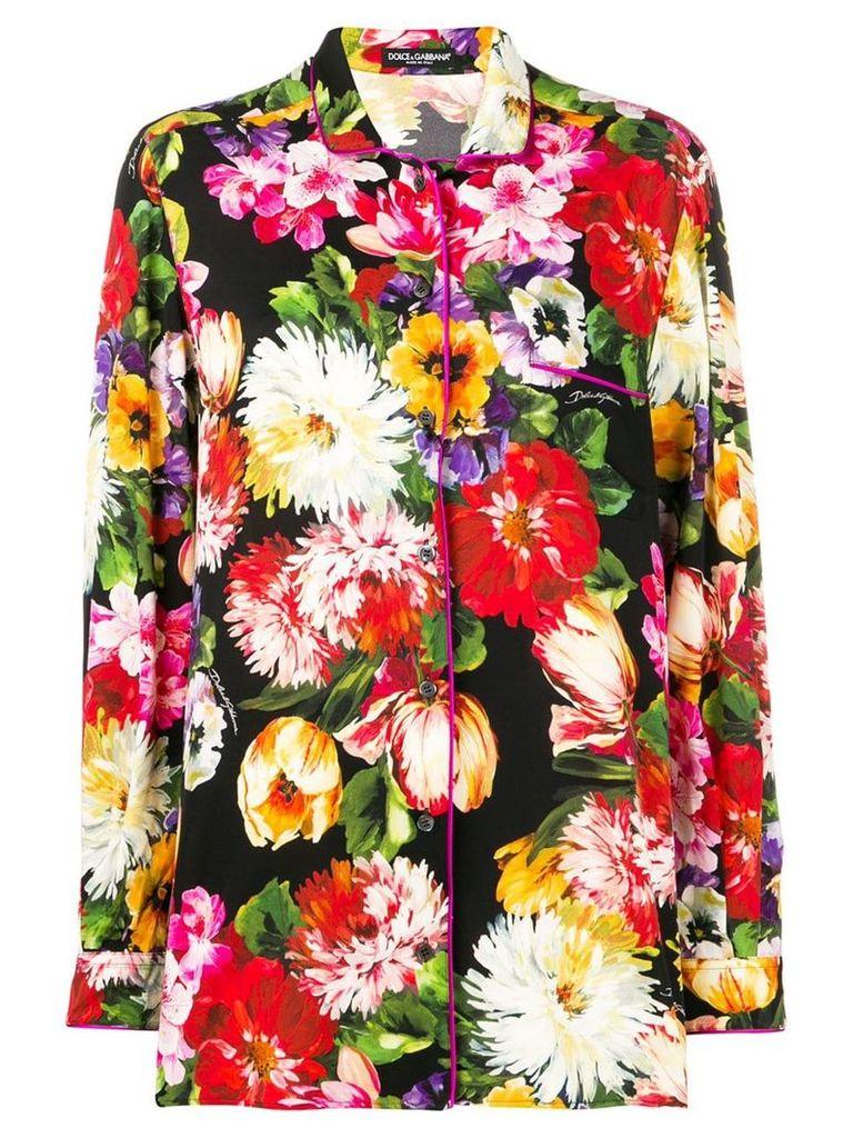Dolce & Gabbana floral print shirt - Black