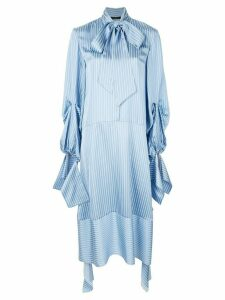 Rokh striped asymmetric dress - Blue