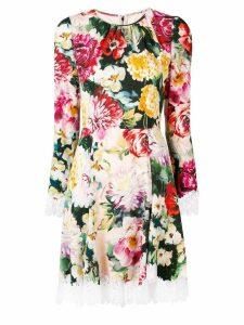 Dolce & Gabbana floral print mini dress - Red