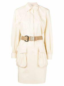 Fendi belted shirt dress - NEUTRALS