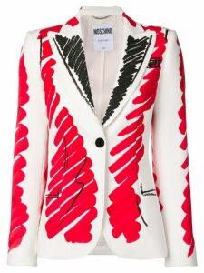 Moschino brushstroke blazer - White