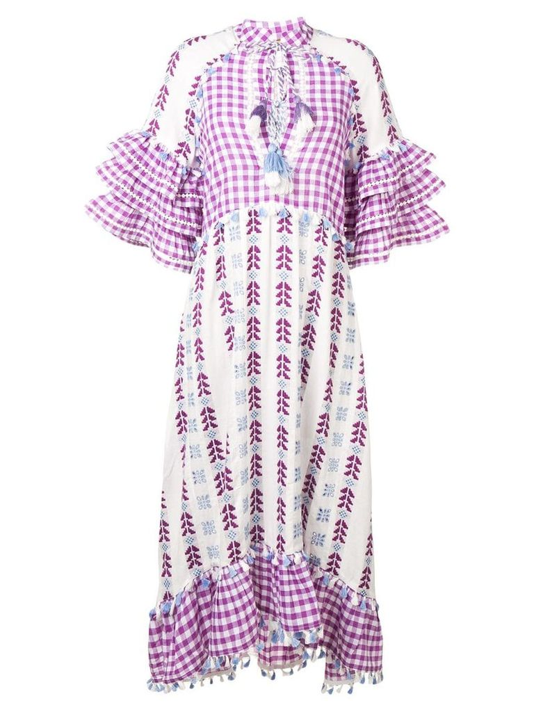 Dodo Bar Or gingham tassel dress - Purple