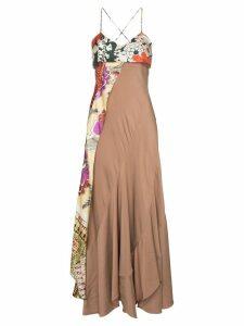 Chloé floral scarf detail dress - NEUTRALS