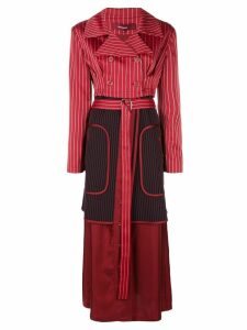 Sies Marjan pinstripe double breasted coat - Red