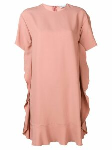 Red Valentino ruffle sided shift dress - Neutrals