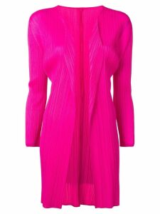 Pleats Please Issey Miyake pleated cardi-coat - Pink