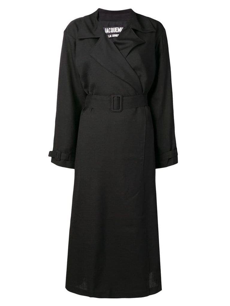 Jacquemus belted trench coat - Black