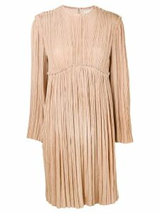 Chloé plissé dress - Neutrals