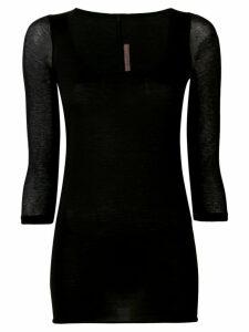 Rick Owens Lilies long-length sweatshirt - Black