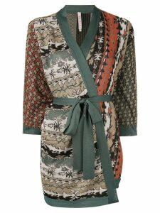 Antonio Marras patchwork wrap cardigan - Multicolour