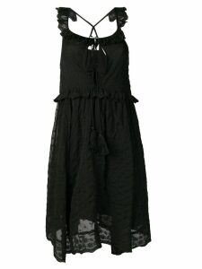 Semicouture embroidered sleeveless dress - Black