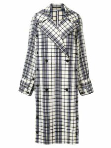 Rokh plaid double-breasted coat - Blue