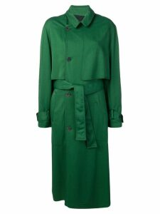 Haider Ackermann structured trenchcoat - Green