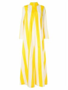 By. Bonnie Young striped band collar maxi dress - Yellow