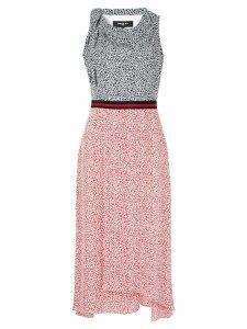 Paule Ka printed draped dress - Blue