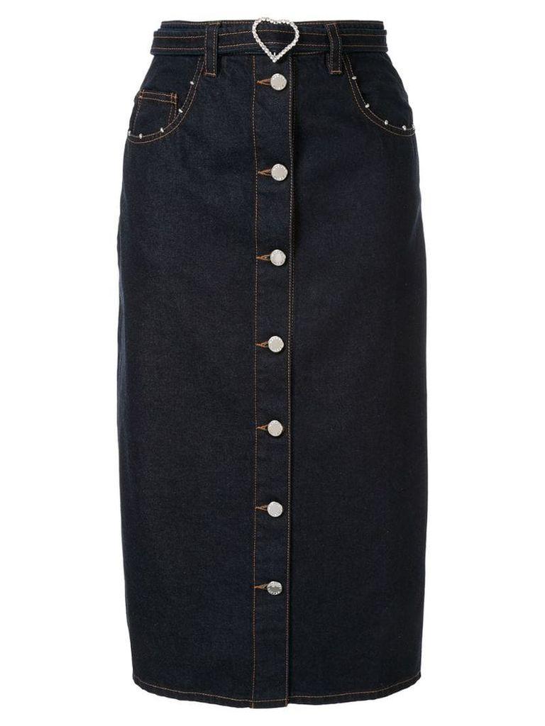 Markus Lupfer Cleo denim skirt - Blue