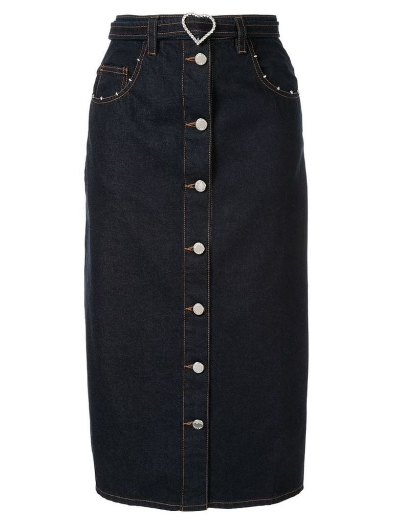 Markus Lupfer Cleo denim skirt - Blue