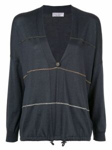 Brunello Cucinelli bead-embellished cardigan - Blue