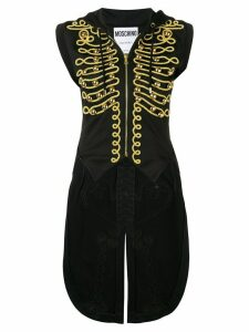 Moschino embroidered military tailcoat - Black