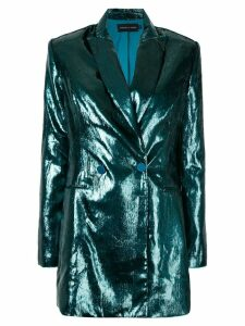 Michael Lo Sordo metallic double breasted blazer - Green